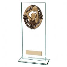 Maverick Legacy Netball Glass Plaque